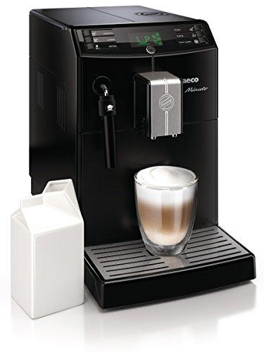 Saeco HD8761/01 Minuto Kaffeevollautomat, klassischer Milchaufschäumer, schwarz - 3