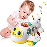 Mingzheng Jouet pour Bébé Avion Enfant - avec Musiques et Sons Forme et Couleur Jouets d'éveil pour Les Tout-Petits Cadeau Enfant 1 2 3 Ans (Avion pour bébé)...