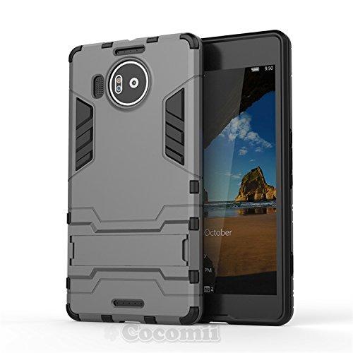 Cocomii Iron Man Armor Microsoft Lumia 950 XL Hülle [Strapazierfähig] Taktisch Griff Ständer Stoßfest Gehäuse [Militärisch Verteidiger] Case Schutzhülle for Microsoft Lumia 950 XL (I.Gray)