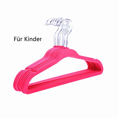 logei-30-pieces-velvet-coat-hangers-kids-childrens-with-trouser-bar-coat-hangers-non-slip-pile-flock