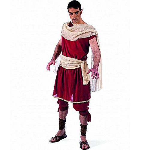 Griechischer Gott Herren Kostüm 2tlg Tunika u Hose für Fasching Karneval Gr. L (Gott Kostüme Für Männer)
