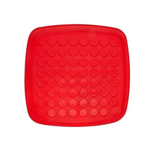 Plateau égouttoir vaisselle plastique rouge 34 x 34 cm
