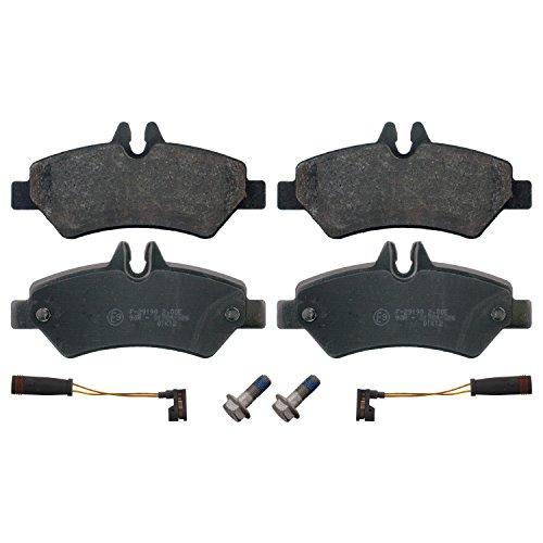 Preisvergleich Produktbild febi bilstein 16708 Bremsbelagsatz mit Anbaumaterial (hinten, 4 Bremsbeläge), mit Verschleißwarnkontakt