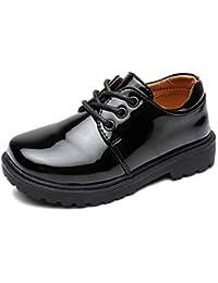 LPATTERN Bambina Ragazza Scarpe Stringate Basse Stivali Scarpe di Cuoio  Oxford Casual in Pelle Scuola 42bd6894d74