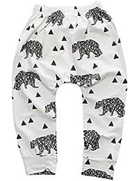 CHENGYANG Bebé Llindo Animal Print PP Pantalones Largos Legging Pantalon de algodón para Niño Niña