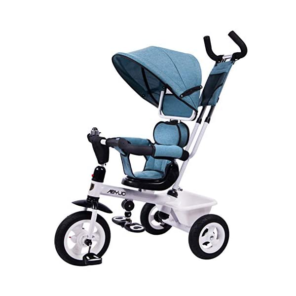 GSDZSY - Kids Tricycle Baby Carriage 3 Wheel Bike 4 In1,with Removable Push Handle Bar,Built-in Steering Link, Rubber Wheel,Soft And Comfortable Seat Can Be Rotated,1-6 Years,B GSDZSY  1