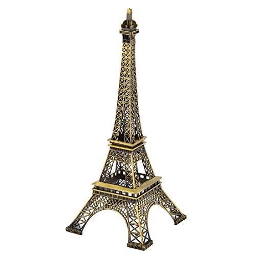 (DealMux Metall Home Decor Trennbare Miniatur-Eiffelturm Modell 32cm Höhe Bronzeton)