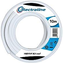 Electraline 11721 H05VV-F Cavo per Prolunghe, Sezione 3x1 mm, Lunghezza 10 m, Bianco