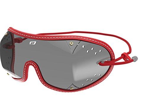 kroops Schutzbrille d.z Freien Fall/Fallschirmspringen Brillen komplett mit gratis kroops Schutzbrille Mikrofaser Aufbewahrungstasche, Red Trim Royal Trim