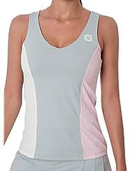 a40grados Sport & Style Caramelo - Camiseta tirantes para mujer, color gris, talla S