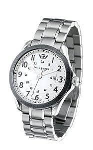 Philip Watch R8253165001 - Reloj analógico de cuarzo para hombre con correa de acero inoxidable, color plateado de Philip Watch