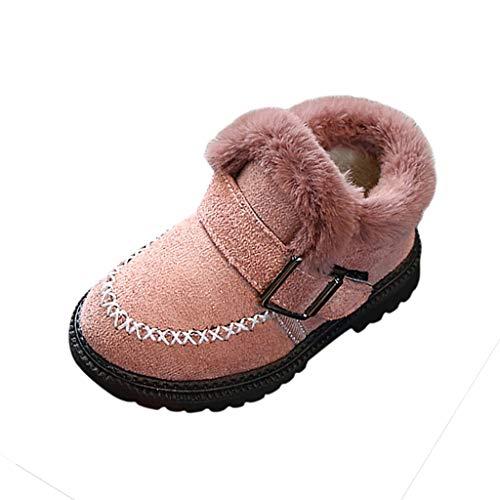 Luckycat Botas de Nieve de Niñas Más Terciopelo Zapatos de Bebé Imprimiendo Botines Calentar Acogedor Niñas Botines Infantiles Suela de Goma Primeros Pasos Zapatos