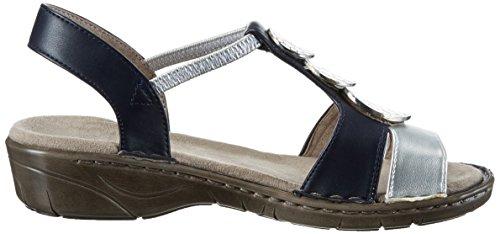 Jenny Damen Korsika-Iii Offene Sandalen Grau (argento,blau)