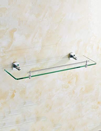 XAMD All Bronze Badezimmer Glasboden Das Badezimmer Einschichtiges Kosmetikregal Wandmontiertes Badezimmer 2-Schicht-Spiegel-Frontrahmen (Color : 1) (Bronze Glasböden)