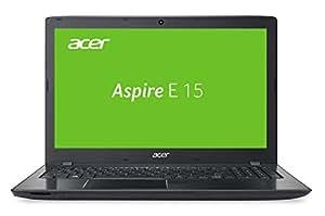 Acer Aspire E 15 (E5-575-58Z2) 39,6 cm (15,6 Zoll Full HD) Notebook (Intel Core i5-6267U, 8GB RAM, 1000GB HDD, 256GB SSD, Intel Iris 550, DVD, Win 10 Home) schwarz