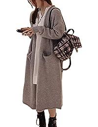 Amazon Cappotto it Donna Abbigliamento Lungo 5U0UqOdnr