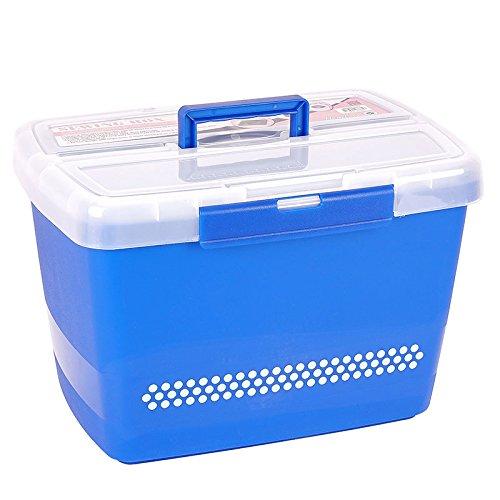 Große stabile Nähbox - Nähkoffer - Kunststoffbox (blau)