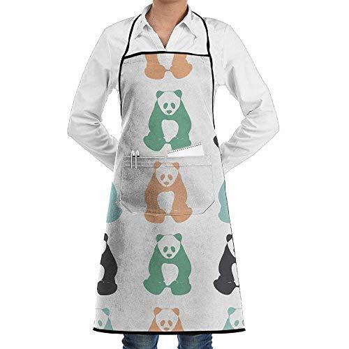 Sangeigt Küche, die Garten-Schürze kochtn, Panda Bear Silhouettes Men & Women Bib Chef Kitchen Apron with ()