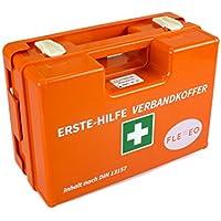 Erste-Hilfe-Koffer für Betriebe mit Inhalt nach DIN 13157 in orange, Verbandkasten gefüllt und mit Wandhalterung preisvergleich bei billige-tabletten.eu