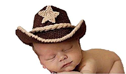 Baby Mädchen/Jungen häkeln Stricken Kostüm Fotografie Prop Outfits (Cowboy) ()