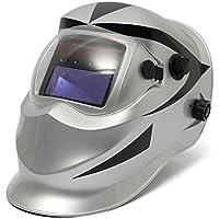 ChaRLes Solar Auto Oscurecimiento Soldador Máscara Casco Electrosoldadura Soldadura Tig Mig Soldador Lente Máscara Azul Oscuro