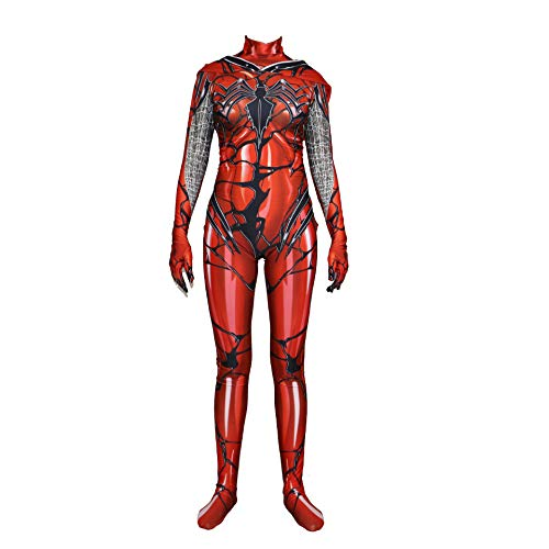(Lycra Damengift Roter Mantel Big Spider-Man Kostüm Cosplay Strumpfhosen Maskerade Kostüme/Masken,Red-XXXL)