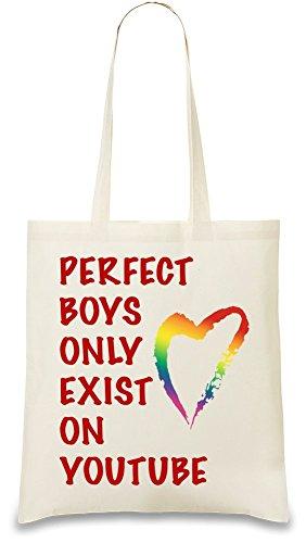 perfect-boys-only-exist-on-youtube-slogan-bolso-de-mano