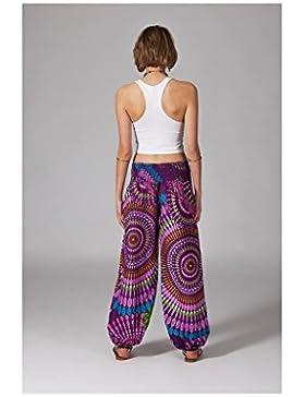 Modeincoton - Pantalone lungo in cotone effetto sbuffo Modeincoton PL351