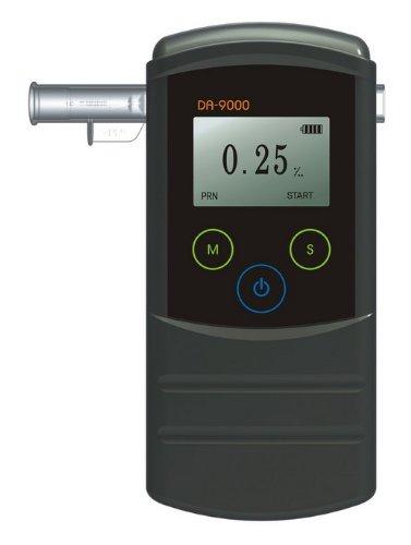 Profi-Alkoholtester Trendmedic Alcofind DA-9000 | Atem-Alkoholmessgerät mit Professional Fuel-Cell-Sensor bis 5.00‰ | POLIZEIGENAU bis 5.00‰ | 250 interne Messwert-Speicherplätze | mit PC-Auswertungs-Software + USB-Kabel