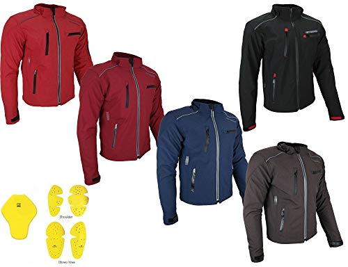 HEYBERRY Soft Shell Motorradjacke Textil Schwarz Gr. XL - Motorrad-kleidung