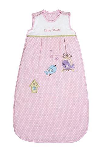 Schlummersack Babyschlafsack Sommer für Mädchen in rosa 0.5 Tog 90cm/6-18 Monate - Little Birdie