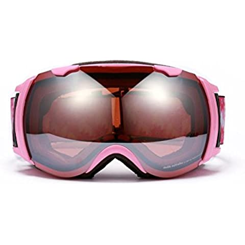 Double anti nebbia UVGoggles Sci & Snowboard occhiali, sostituibile miopia lente,GHTAT#825