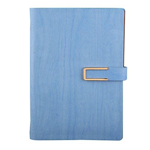 Busirde Cuoio Notebook copertura A5 a fogli Time Planner Organizzatore Diario giornaliero personale Memo Agenda Diario di viaggio azzurro