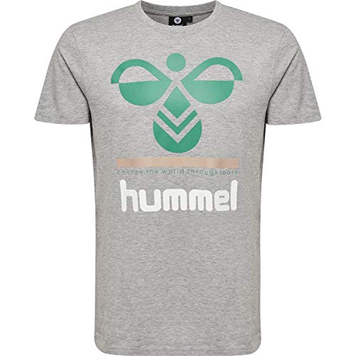 hummel Herren HMLWINSTON T-Shirts, Grau Melange, M