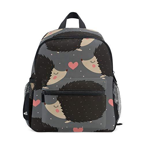 Kinderrucksack Igel Herz Kindergarten Vorschule Tasche für Kleinkind Mädchen Jungen