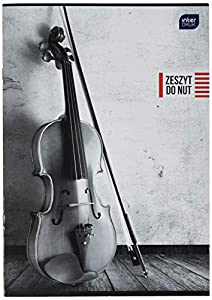 Interdruk ZENA4LPION - Cuaderno para partituras de música (A4, 16 UV, Piano)