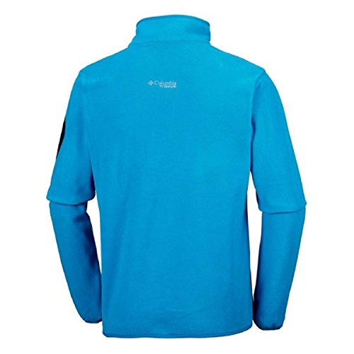 Columbia Herren Titan Pass 1.0 Half Zip Fleece Dark Compass, Phoenix Blue