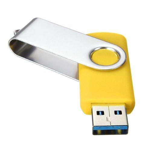 SODIAL(R)USB 3.0 Memory Stick faltbares Flash Laufwerk Memory Stick Speicher mit drehbarem Clip 32GB – Gelb - 3
