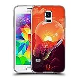 Head Case Designs Bergen Sonnenuntergang Sammlung Soft Gel Hülle für Samsung Galaxy S5 Mini