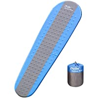 iNeibo Self Inflating Sleeping Mat, Inflatable Camping Mat/Sleeping Pad - Compact Lightweight Camp Mat,Inflatable Roll Up Foam Bed as Tent Pads, Hammock Mats for Adult or Kids Outdoor, Hiking, Camping, Winter Mummy Sleeping Bag