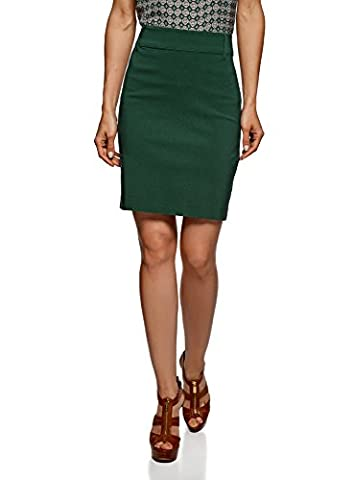 oodji Ultra Women's Knee Length Bodycon Pencil Skirt, Green, UK