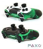 2 x PAXO PS4 Silikon Schutzhülle Grün-schwarz / Playstation 4 Controller Sleeve Bundle