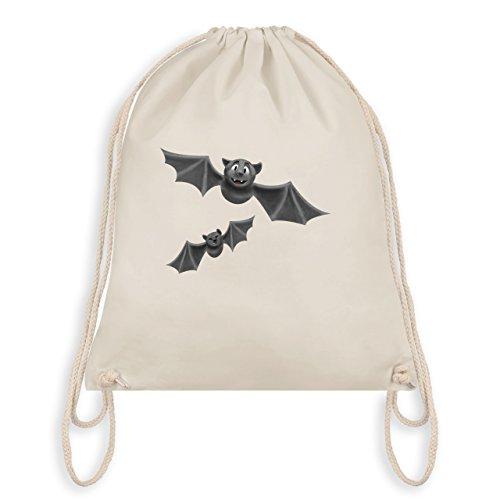 Halloween - süße Fledermäuse - Unisize - Naturweiß - WM110 - Turnbeutel & Gym ()