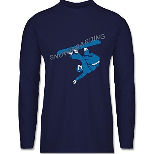 Shirtracer Wintersport - Snowboarding - Herren Langarmshirt Navy Blau