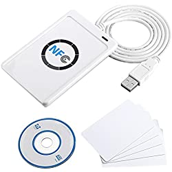 ACS ACR122U USB 2.0 Blanc lecteur de cartes à puce - Lecteurs de cartes à puce (USB 2.0, 65 x 12,8 x 98 mm, 70 g, Windows 2000,Windows 2000 Professional,Windows 7 Home Basic,Windows 7 Home Basic x64,Windows 7..., Android, ISO 14443, CE, FCC, KC, VCCI, PC/SC, CCID, USB)