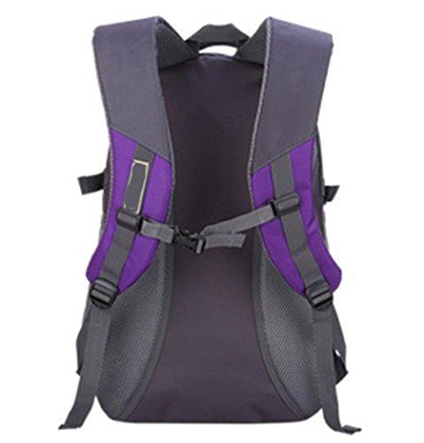 Xiuxiandianju 36-55L outdoor e trekking zaini ad alta capacità sport tempo libero spalla Borse Zaini viaggio Zaini , purple Purple