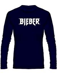 T Shirt - Full Sleeve Round Neck Justin Bieber Design Graphics Printed 100% Cotton T Shirt - Justin Bieber Design...