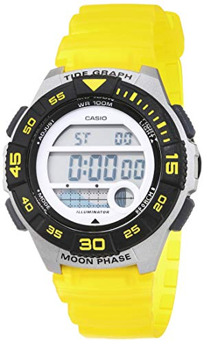 CASIO Damen Digital Quarz Uhr mit Resin Armband LWS-1100H-9AVEF -