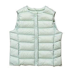 ZhuikunA Daunenweste Jungen Mädchen, Packbar Im Freien Steppweste Ultra Leichte mit Kapuze ärmellose Jacke
