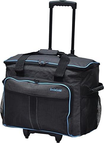 foolsGold Pro Machine à coudre rembourré épais sac voyage à roulettes valise de transport sur roues